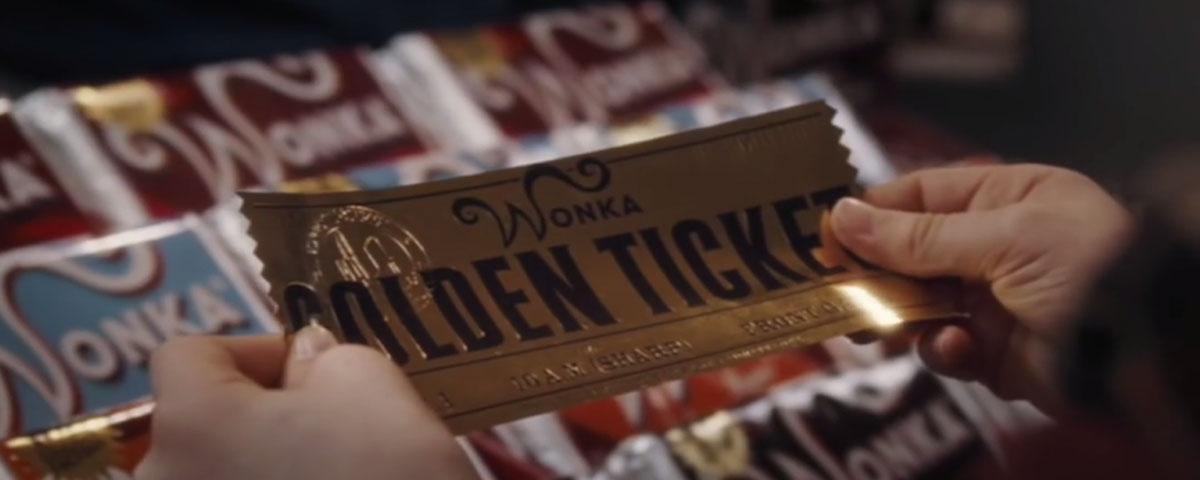 Willy Wonkas golden ticket