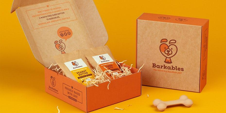 Barkable biscuits packaging